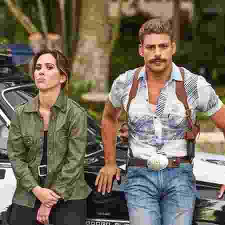 """Tatá Werneck e Cauã Reymond vivem Keyla e Claudio, dois policiais na comédia """"A Dupla"""" - Daniel Chiacos/Divulgação"""