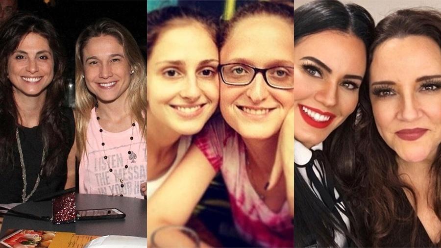 Fernanda Gentil e Priscila Monrandon, Carol Duarte e Aline Klein e Leticia Lima e Ana Carolina - Montagem/UOL