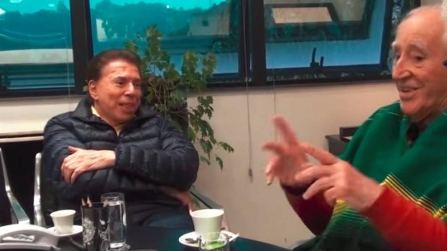 Silvio Santos discute com Zé Celso em reunião intermediada pelo prefeito João Doria (PSDB) - Reprodução/TV Folha