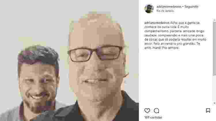 Luiz Fernando Guimarães ganha do marido mensagem de aniversário carinhosa - Reprodução/Instagram - Reprodução/Instagram