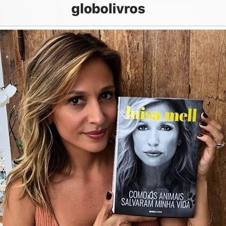 Luisa Mell mostra a capa de seu livro - Reprodução/Instagram