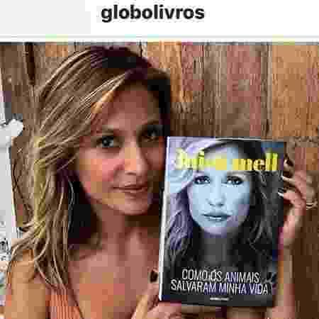Luisa Mell divulga capa de seu livro,