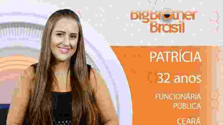 Patrícia do BBB18 - Divulgação/TV Globo - Divulgação/TV Globo