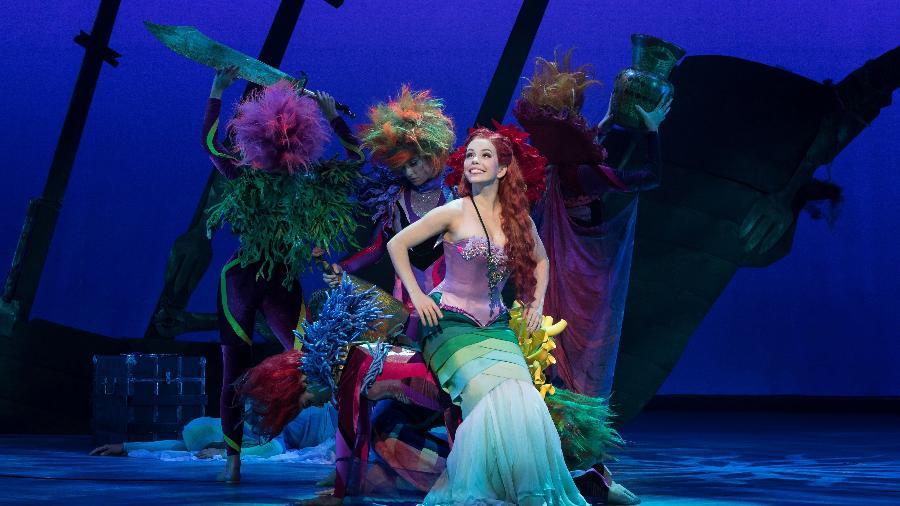 """Fabi Bang é Ariel em """"A Pequena Sereia"""", musical com a grife Disney que está em cartaz em SP - João Caldas/Divulgação"""
