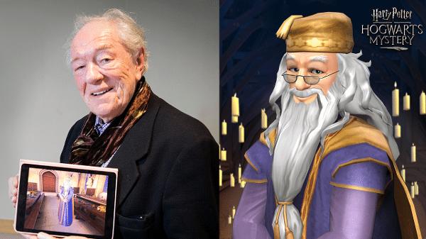 """f62ec70f4 Michael Gambon retorna como Dumbledore em novo jogo do Harry Potter Imagem   Divulgação. """"Harry Potter  Hogwarts Mystery"""" será lançado ..."""