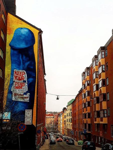 O polêmico mural nas ruas de Estocolmo - Reprodução/Instagram
