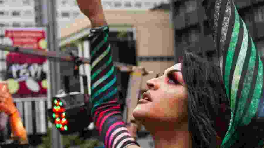 Pabllo Vittar em show neste domingo, na 22ª Parada do Orgulho LGBT de São Paulo - Matheus Souza