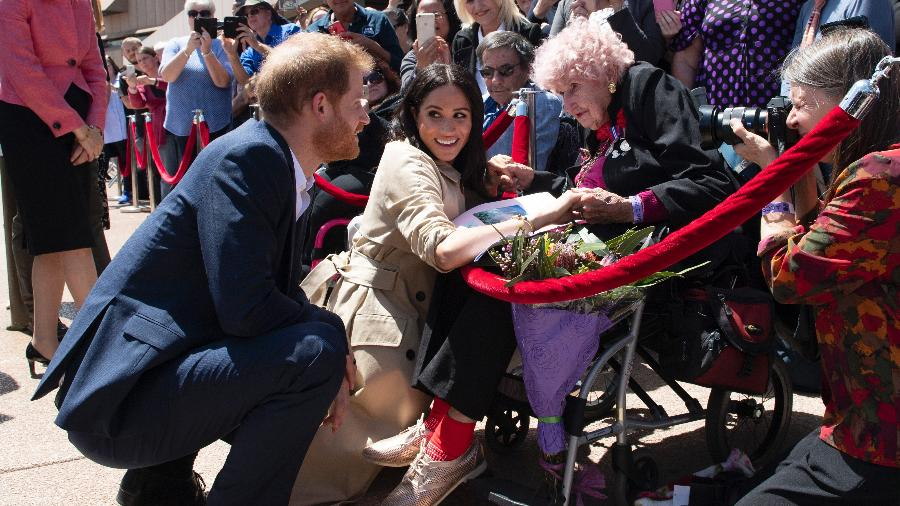 Príncipe Harry e Meghan Markle encontram Daphne Dunne na Austrália - Getty Images