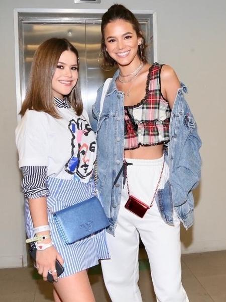 Maisa e Bruna Marquezine se encontram no show de Ivete Sangalo - Manuela Scarpa/Brazil News