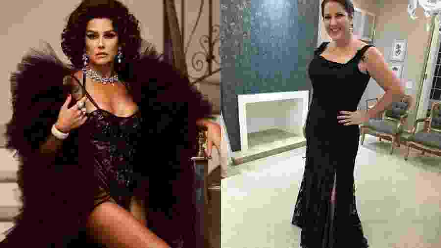 Deborah Secco e Christiane Pelajo se inspiram em Sophia Loren para o Baile do Copa - Reprodução/Instagram/Montagem UOL