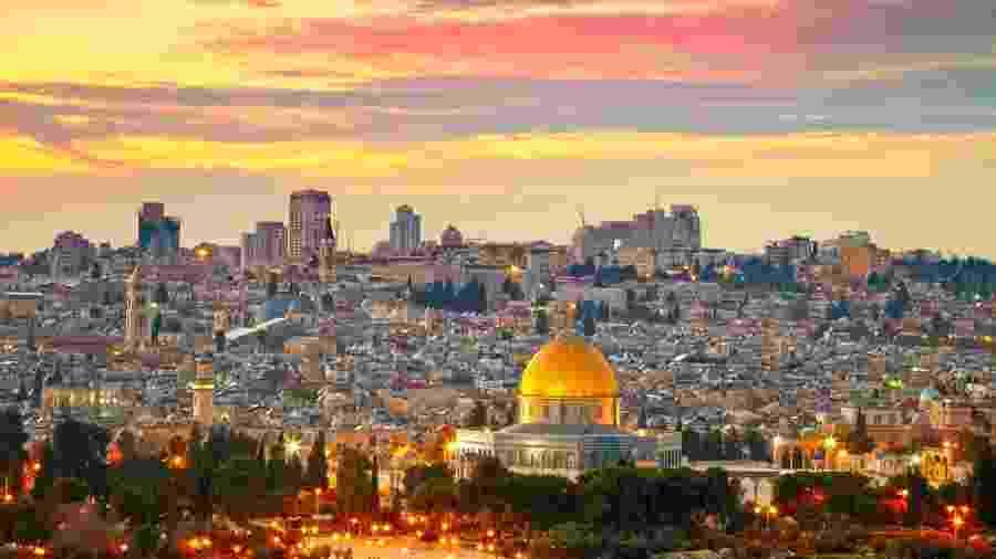 Jerusalém se transforma completamente perto da meia-noite. - Getty Images/iStockphoto