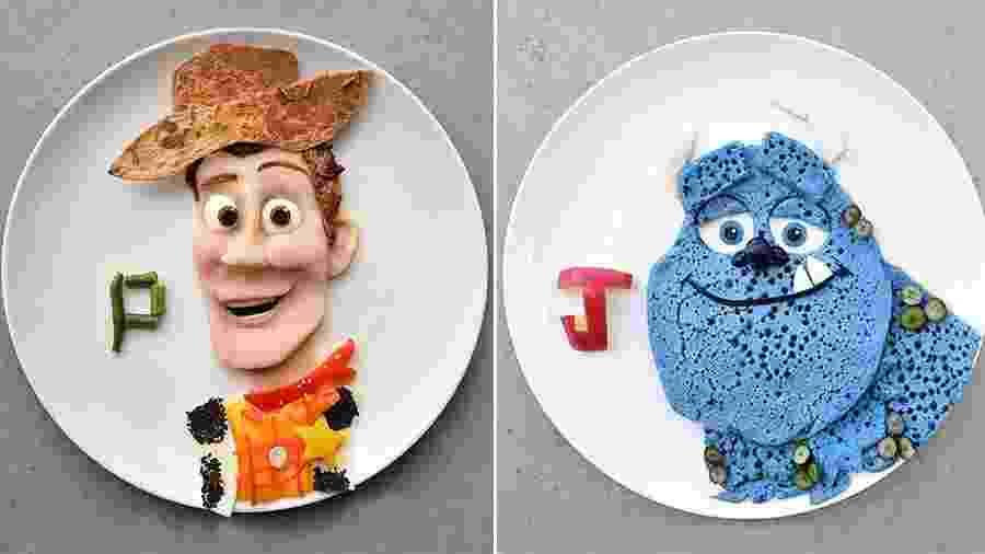 """Woody, de """"Toy Story"""", e Sullivan, de """"Monstros S.A."""" são algumas das criações de Laleh Mohmedi - Reprodução/Instagram"""