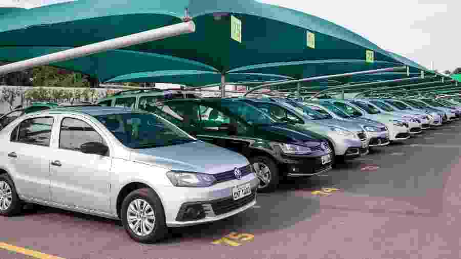 Frota de carros da locadora de veículos Hertz, que entrou com pedido de falência nos Estados Unidos e no Canadá - Divulgação