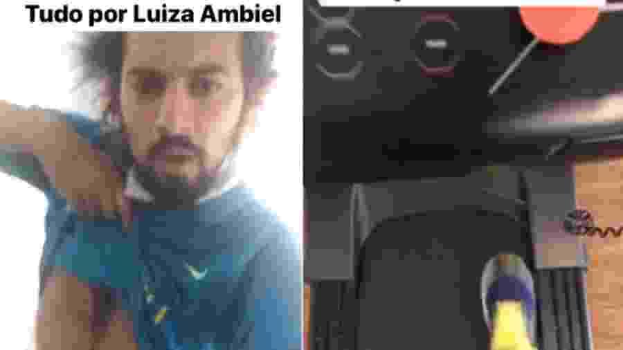 Cartolouco diz que quer ficar em forma para conquistar Luiza Ambiel - Reprodução/Instagram