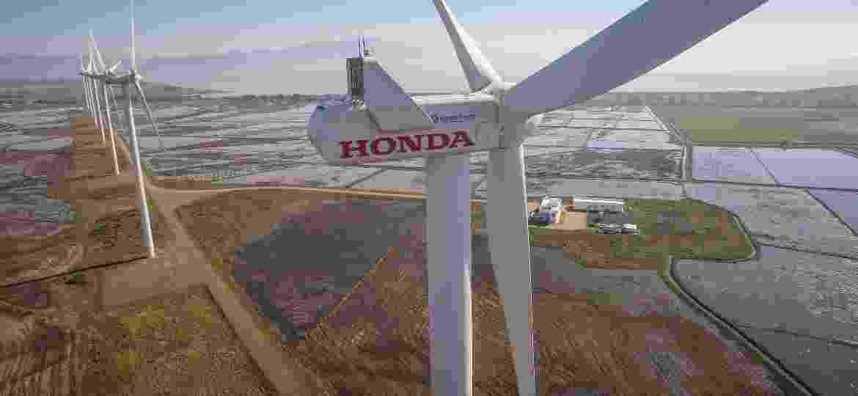 Honda é única montadora de carros com parque eólico no país - Divulgação