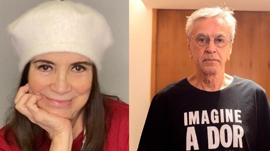 Regina Duarte recebe críticas dos seus seguidores após postar vídeo de Caetano Veloso - Reprodução/Instagram