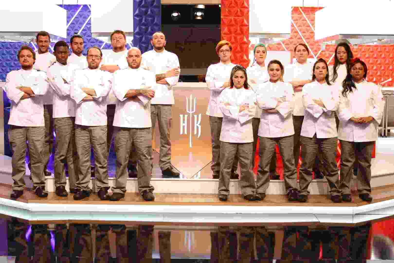 """Participantes do """"Hell's Kitchen - Cozinha Sob Pressão"""" - Leonardo Nones/SBT"""