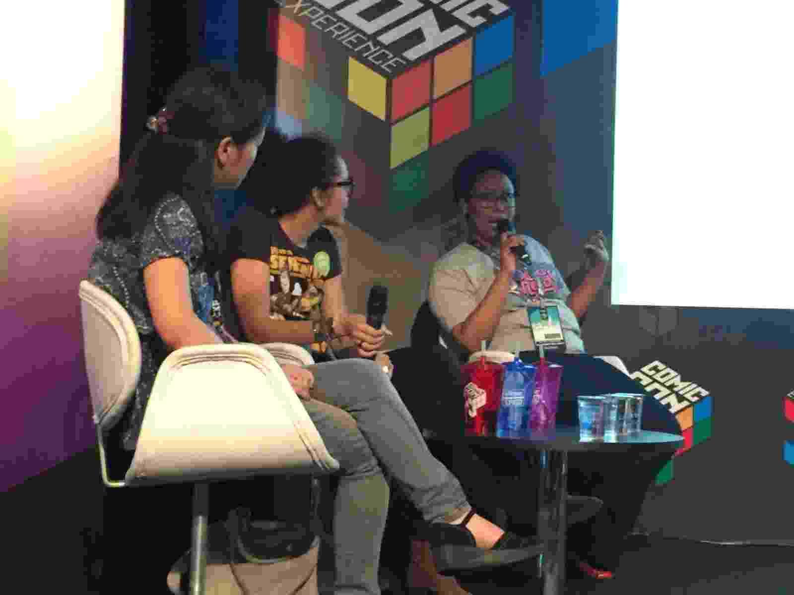 4.dez.2015 - Painel de representação Étnica na Cultura Pop na Comic Con Experience discutiu a participação de negros e orientais nas principais produções culturais da atualidade. O evento acontece no Centro de Exposições São Paulo Expo - Felipe Branco Cruz/UOL