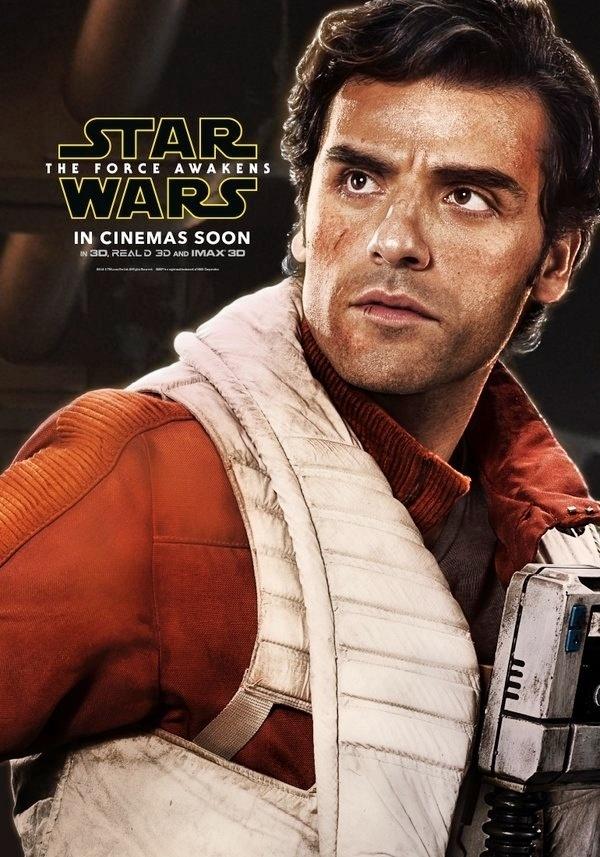 "5.dez.2015 - Novo pôster de ""Star Wars: O Despertar da Força"" traz o ator Oscar Isaac como o piloto rebelde Poe Dameron"