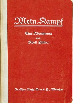 """Capa da primeira edição de """"Mein Kampf"""", de Adolf Hitler - Reprodução/EPA/HO"""
