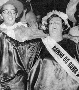 Atriz Etty Fraser, primeira rainha da Banda Redonda, em 1972