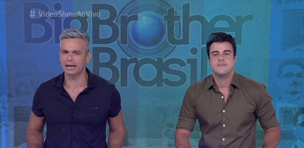 """Otaviano Costa e Joaquim Lopes apresentam o """"Vídeo Show"""" após a saída de Iozzi - Reprodução/TV Globo"""
