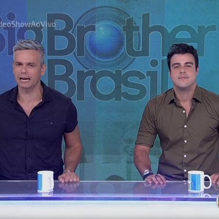 """Otaviano Costa e Joaquim Lopes apresentam juntos o """"Vídeo Show"""" após a saída de Monica Iozzi - Reprodução/TV Globo"""