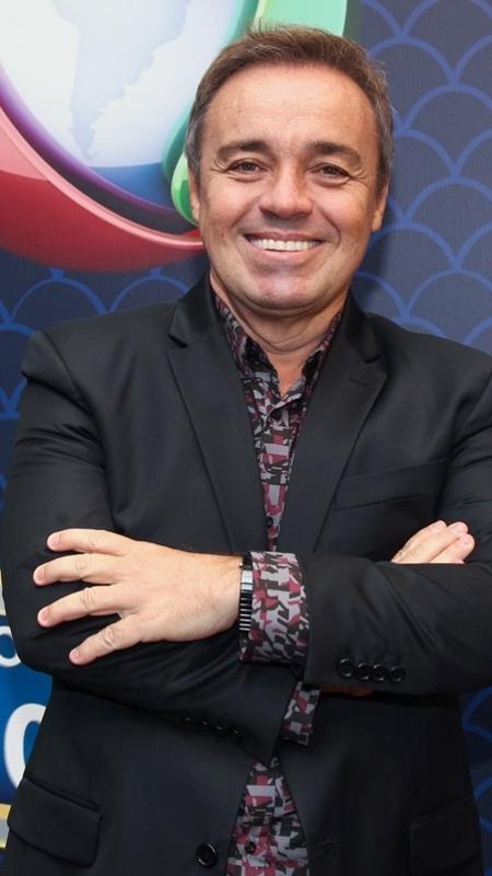 O apresentador Gugu Liberato, na sede da Record  - Manuela Scarpa/Brazil News