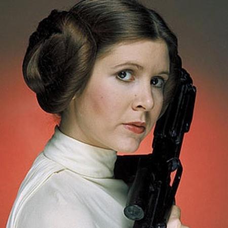"""A atriz Carrie Fisher como Princesa Leia na saga """"Star Wars"""" - Divulgação"""