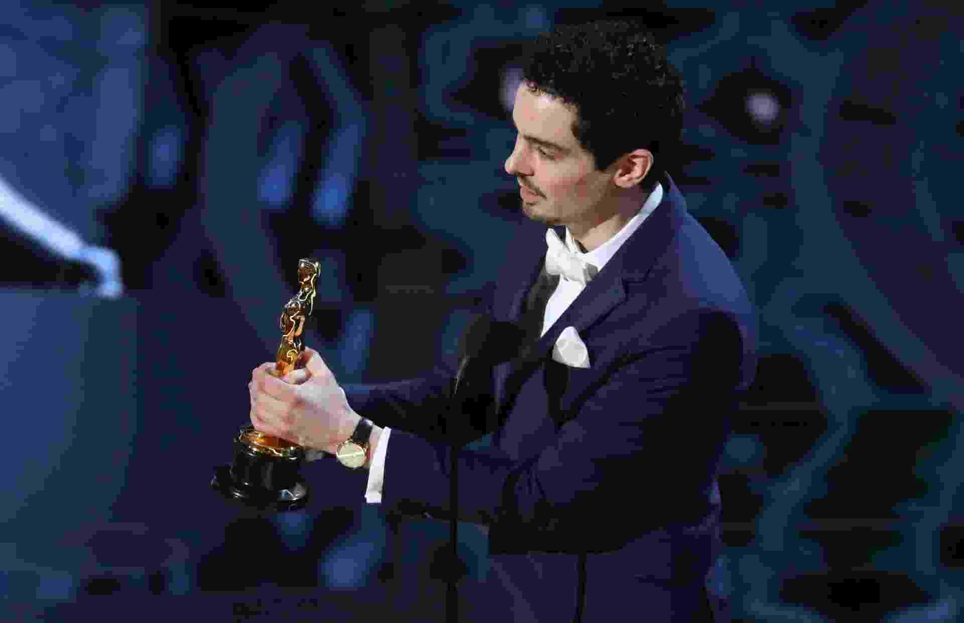 """Aos 32 anos, o jovem Damien Chazelle venceu na categoria de melhor diretor, pelo trabalho em """"La La Land"""" - REUTERS/Lucy Nicholson"""
