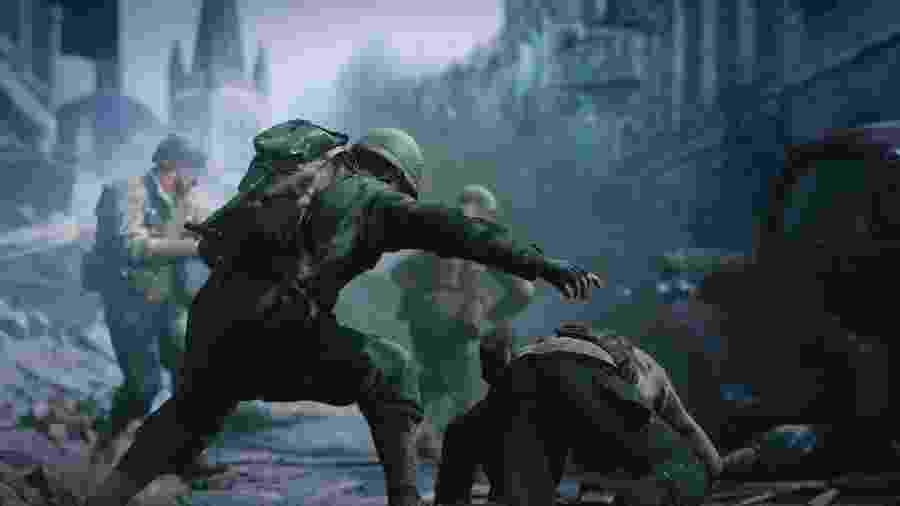 """De volta às raízes: """"Call of Duty: WWII"""" tem a Segunda Guerra Mundial como pano de fundo e traz uma jogabilidade mais tradicional do que seus antecessores - Reprodução"""