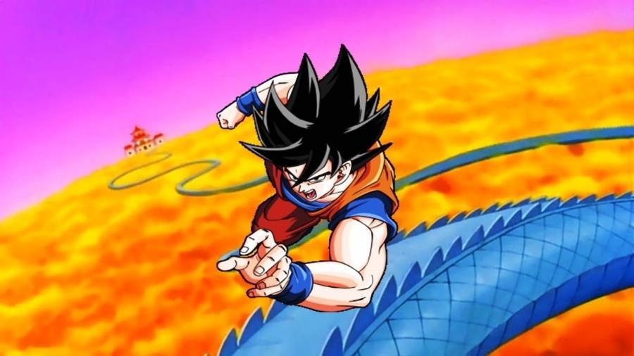 Ele pode voar e é capaz de se mover em velocidades impressionantes, mas ainda assim Goku resolveu dar umas voltas em um carro de Fórmula 1 - Reprodução