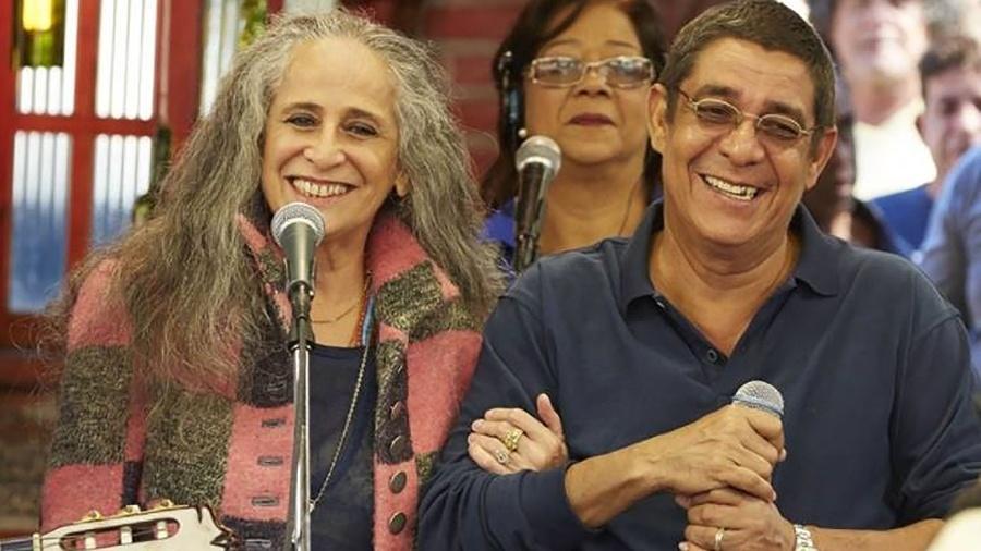 Turnê de Zeca Pagodinho e Maria Bethânia juntos começará em abril pelo Recife - Divulgação