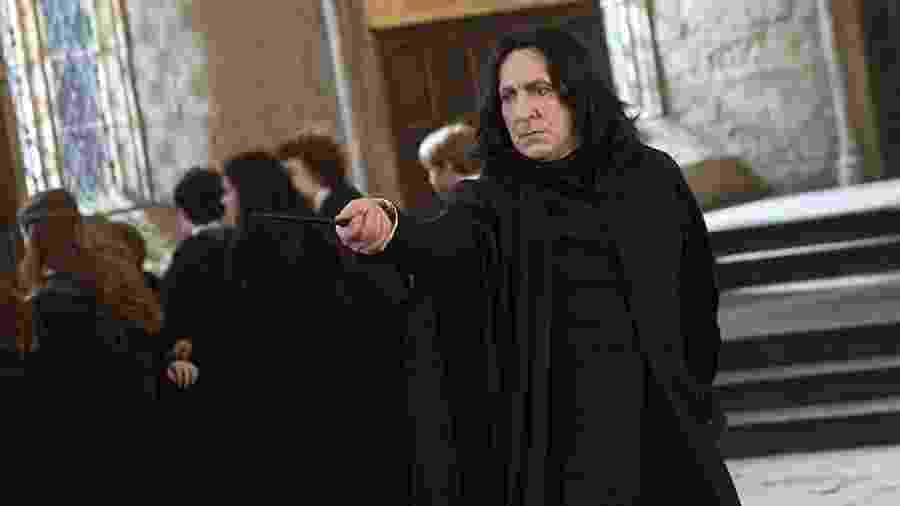 """Alan Rickman como o professor Snape em """"Harry Potter e as Relíquias da Morte: Parte 2"""" - Divulgação"""