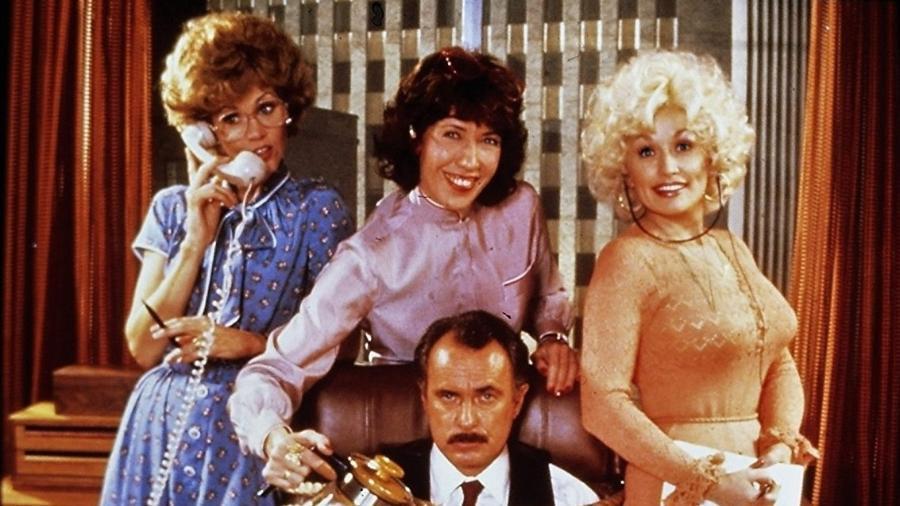 """Jane Fonda, Dolly Parton, Dabney Coleman e Lily Tomlin em """"Como Eliminar Seu Chefe"""" (1980) - Divulgação/Fox"""