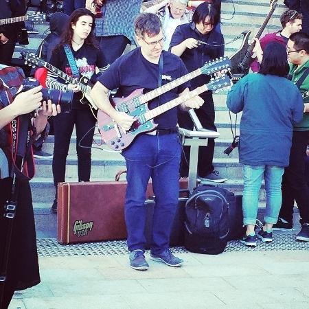 Guitarristas tentaram bater recorde em Sydney; oficialização deve demorar 6 semanas - Reprodução/Instagram
