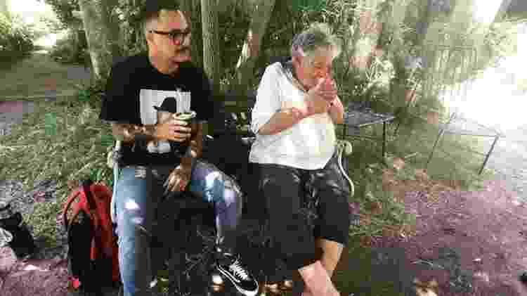 Marcelo D2 e Mujica em encontro no Uruguai - Facebook/Reprodução - Facebook/Reprodução
