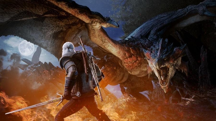 Geralt em Monster Hunter World - Divulgação