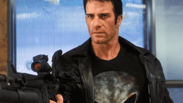 """Thomas Jane em cena de """"O Justiceiro"""" (2004) - Reprodução - Reprodução"""