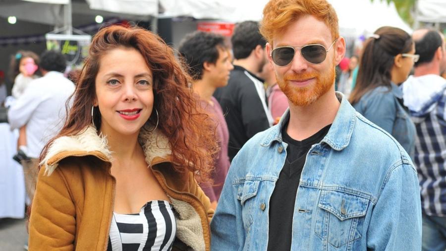 A atriz peruana Marba Goicochea e o ator argentino Juan Manuel Tellategui, que desfilam, respectivamente, na Unidos de Vila Maria e X-9 Paulistana  - Cassiano Souza/Divulgação
