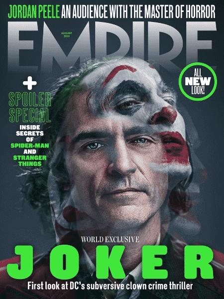 Joaquin Phoenix como Coringa na capa da Empire - Reprodução