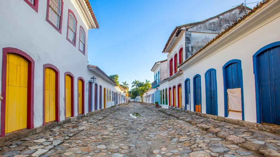 Rua de Paraty, no Rio de Janeiro, cidade que sedia a Flip nos próximos dias - iStock