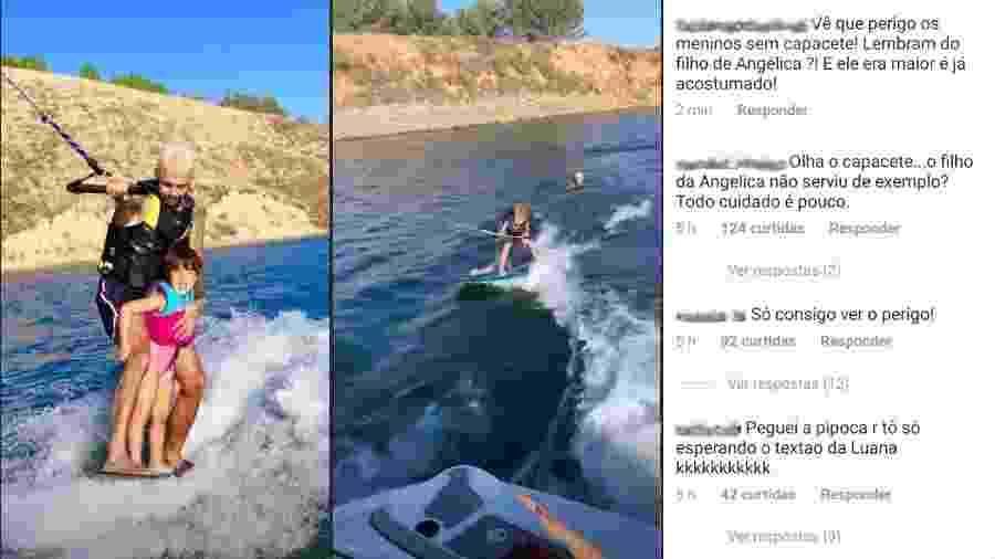 Pedro Scooby pratica wakeboard com filhos - Reprodução/Instagram