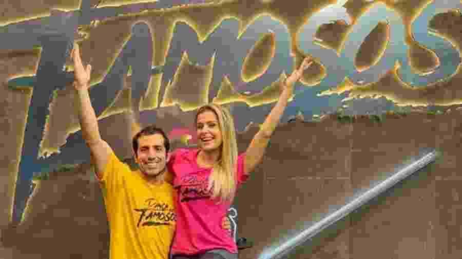 Kaysar Dadour posa com sua companheira na Dança dos Famosos - Reprodução/Instagram