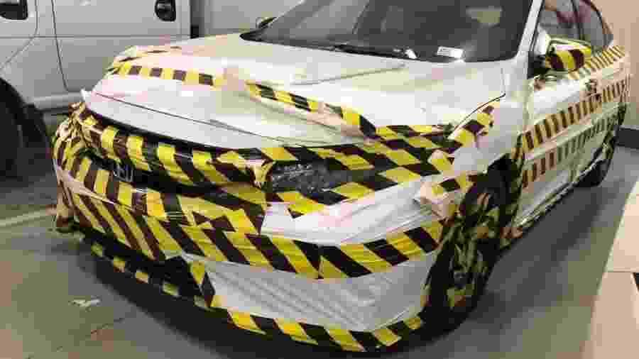 Camuflagem do Honda Civic 2020 chinês - Reprodução
