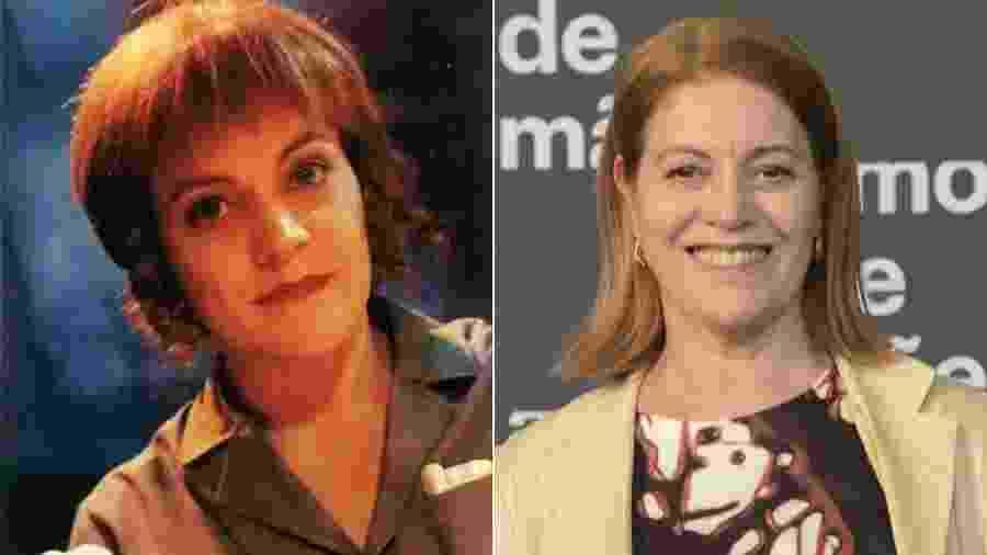 A atriz Magali Biff em Chiquititas (1997) e no lançamento de Amor de Mãe - Estevam Avellar/TV Globo