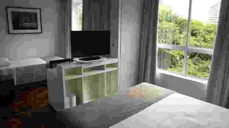 Acomodação disponibilizada pela Prefeitura de Curitiba: município alugou 100 quartos de hotel para trabalhadores da saúde - Divulgação - Divulgação