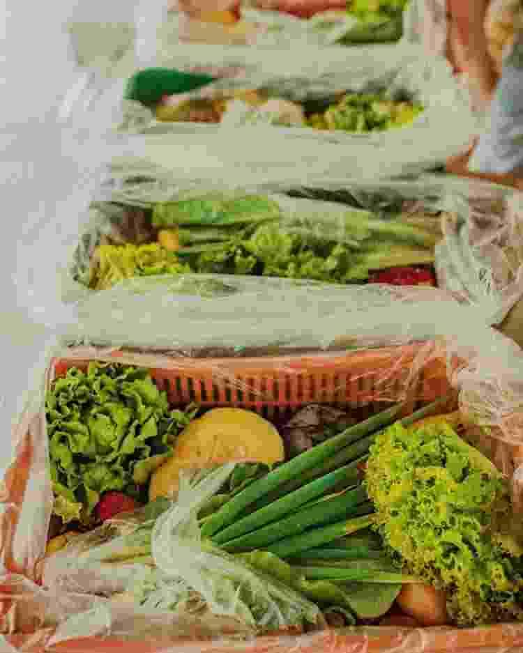 Cesta de alimentos do projeto Orgânico Solidário - Divulgação - Divulgação