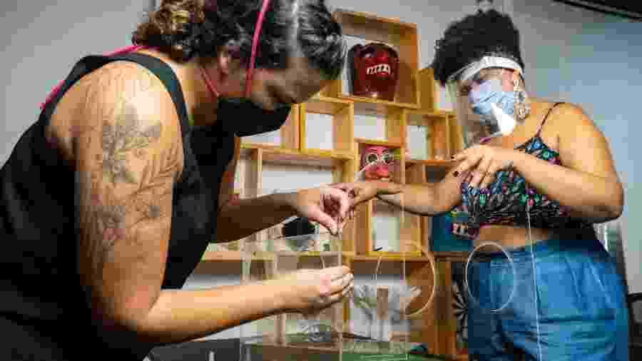 Montagem da caixa de aerossol da Casa Criatura - Divulgação