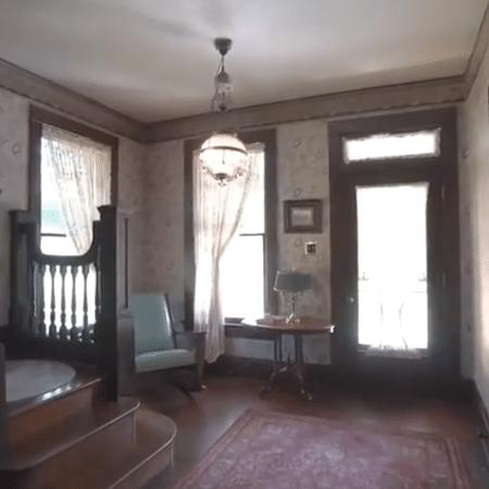 """O interior da casa onde foi filmado o clímax de """"O Silêncio dos Inocentes"""", nos EUA - Reprodução - Reprodução"""